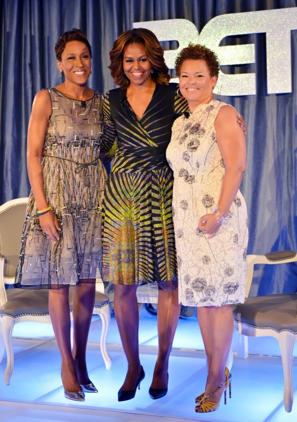 michelle-obama-visits-miami-in-etro-black-wrap-dress